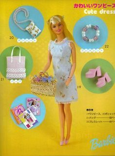 A variety of Barbie doll patterns Barbie Sewing Patterns, Sewing Dolls, Doll Clothes Patterns, Sewing Patterns Free, Doll Patterns, Barbie Mode, Barbie And Ken, Free Barbie, Accessoires Barbie