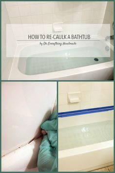 DIY - How to re-caulk a bathtub