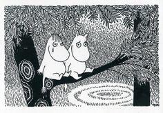 Tove Jansson - Snork Maiden and Moomintroll postcard via Kiosk Mamymuminka (Moomin PL) Moomin Valley, Joy Art, Tove Jansson, Little My, World Best Photos, Troll, Illustrators, Fairy Tales, Illustration Art