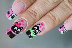 decoracion-unas-gatos-3 Nail Manicure, Pedicure, Nail Polish, Nails, Marie Cat, All Things Beauty, Makeup Art, Nail Art Designs, Valentines