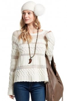 Neige Cable Knit Sweater | Calypso St. Barth