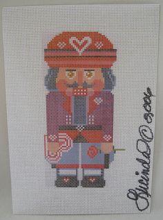 Needlepoint Canvas Lucinda Gregory Nutcracker Valentine's Day Christmas #LucindaGregory