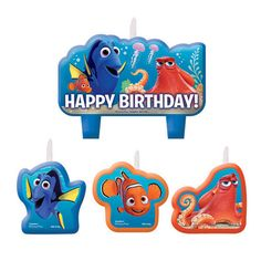 Check out Purchase Finding Dory Birthday Candle Set (4 Candles) and other party…