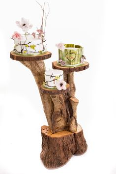 Rustic Floor Standing Cake Stand - available to hire from Wooden Treats Wedding Cake Stands, Wedding Cakes, Handmade Wedding, Rustic Wedding, Wood Wedding Decorations, 3 Layer Cakes, Wooden Cake Stands, 40th Birthday Parties, Rustic Theme