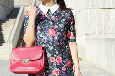 Detalle #look #moda #modavigo #bolso #rojo #bimbaylola #vestido #flores #looklady #modavigo #modagalicia
