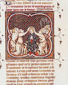 Sacre ( Coronation ) de Saint Louis( King Louis IX of France ) - 1226