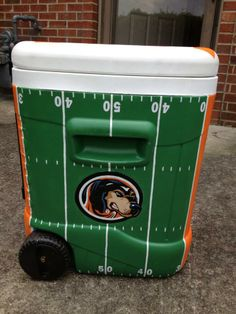 football field cooler painting