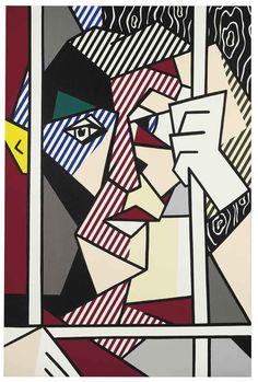 The Prisoner, 1980 -  Roy Lichtenstein - Oil and Magna on canvas, 60 x 40 inches, 152.4 x 101.6 cm