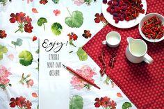Geranium - Floral Watercolor Set by Graphic Republic on @creativemarket