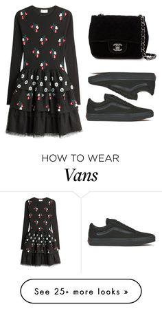 """Untitled #579"" by elitsagospodin on Polyvore featuring RED Valentino, Vans and Chanel"