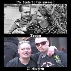 Die deutsche Herrenrasse:  Traum und Wirklichkeit :))  #witzig #humor #fun #lachen #spaß #lustig #spruch #sprüche