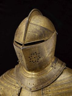 Field armour of King Charles I (known as the Gilt armour). Dutch, about 1612-13. Possibly made by Charles Dartene