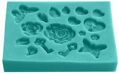 This romantic mold features: Rose, Butterfly, Hearts and Keys Many of them are miniatures of larger, top selling molds and can be used to embellish a wide number of projects. The smaller sizes in this