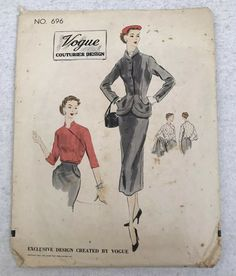 Condition: Spotting to envelop, flap attached. No Vogue label. Blouse And Skirt, Cool Suits, Vogue, Patterns, Skirts, Jackets, Block Prints, Down Jackets, Skirt
