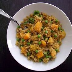 Herbed Quinoa Risotto with Butternut Squash & Sweet Peas. So excited to try this one!