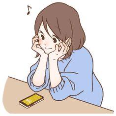 hono*bono Girl Sticker – LINE stickers Kawaii Drawings, Cute Drawings, Cute Illustration, Character Illustration, Character Art, Character Design, Anime Expressions, Cute Anime Pics, Cartoon Art Styles
