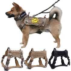 Military Tactical Dog Harness German Shepherd Pet Dog Vest With Handle Nylon Bungee Dog Leash Harness For Small Large Dogs Puppy Tactical Dog Harness, Tactical Vest, Big Puppies, Dog Weight, Dog Vest, Military Dogs, Pet Clothes, Dog Clothing, Working Dogs
