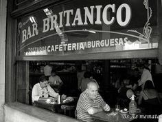 Bar Britanico in Montevideo, Buenos Aires.   One scene from the Motorcycle Diaries was filmed here but the history dates back waaaaay before then. A true Argentinian hangout, open late into the night. Mostly locals.