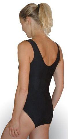 Bathing Suit Classic One Piece - Nursing Swimwear - Black Breast is Best. $59.00