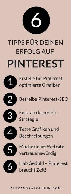 Kein Erfolg auf Pinterest? Wenn du schon eine Zeit lang auf Pinterest aktiv bist, aber bisher immer noch nicht die Erfolge siehst, die du gerne hättest, dann aufgepasst: Heute verrate ich dir 6 mögliche Ursachen und wie du sie schleunigst wieder behebst. #pinteresttipp #pinterestmarketing #pintereststrategie #socialmediamarketing