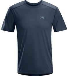 Ether Crew SS Mens Durable, lightweight, moisture-wicking short-sleeved shirt with mesh underarm panels to aid venting.