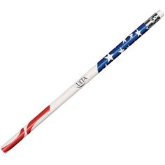 """7.5 Inch Customized Patriotic Foil Pencils: Available Color: USA. Imprint Colors: Black, Blue & Red. Product Size: 7-1/2"""" L. Imprint Area: 2-1/2"""" W x 3/4"""" H. Box Weight: 3.25 lbs. Packaging: 250 per box. Made In: USA. #patriotpencil #promotionalgifts #independencedaygift"""