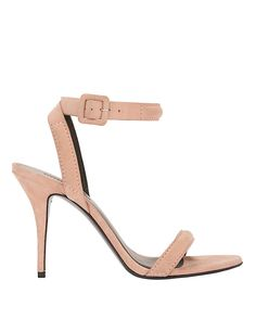 Alexander Wang Ankle Strap Suede Sandal: Blush: An elegant 4 suede stiletto sandal with an ankle strap. Leather sole. In blush ...