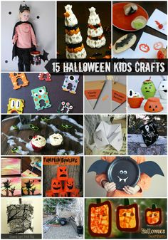 15 Halloween Kids Crafts including a fabulous Peeps topiary and the most adorable paper plate craft! | isthisREALLYmylife.com #crafts #DIY #Halloween