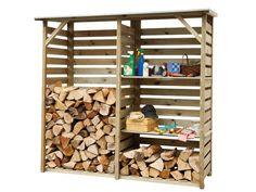 Houtopslag Twin met voldoende opslagruimte voor een easypallet brandhout.