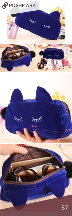 Kitty Cosmetic Bag Adorable Kitty Cosmetic Bag! Use for Cosmetics, glasses,  etc add9884960