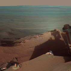 PhotoBlog - Mars rover sees its own shadow