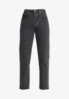 Levi's 501 CROP - Jeans Straight Leg - dancing in the dark - Zalando. Teenage Outfits, Cute Pants, Future Clothes, Levis 501, Indie Outfits, Grunge Fashion, Cropped Jeans, Aesthetic Clothes, Fitness Fashion