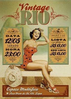 Vintage Rio - Cartaz on Behance