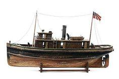 Folk Art Model Sea Going Tugboat Circa 1900
