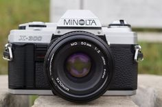 Minolta X300 Vintage SLR Camera w/ Minolta MD 50mm by VintageBP