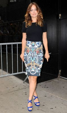 Olivia Wilde in Crippen top on Good Morning America