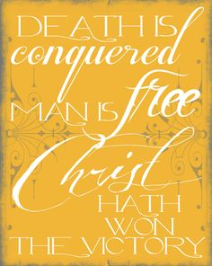 Capital B: Easter Printable: Death is Conquered
