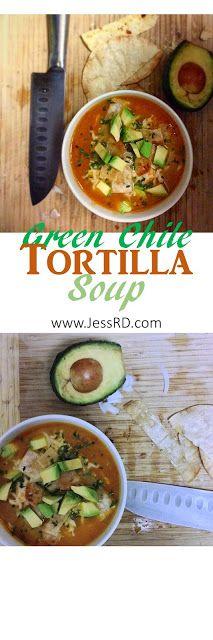 Green Chile Tortilla Soup #chicken #recipe