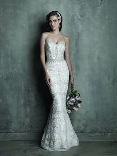 Allure Bridals: Style: C288 - love the bead pattern on the skirt near the knee