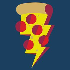 It's a pizza lightning storm. Grab something metal. Pizza Lightning by Alex Eben Meyer Pizza Shuttle, Pizza Art, Pizza Pizza, Comida Pizza, Pizza Project, Kids Graphic Design, Art Puns, Pizza Branding, Pizza Life