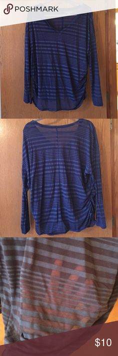 LB long sleeve v neck Lane Bryant long sleeve v neck. It is see through. Size 18/20. Sides are cinched Lane Bryant Tops Tees - Long Sleeve
