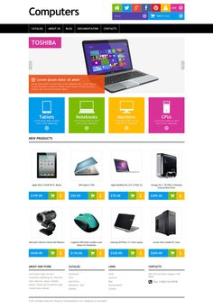 Computer Store Responsive Shopify Theme New Screenshots BIG