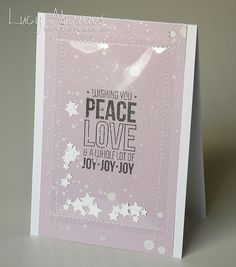Peace, love and Joy by Lucy Abrams, via Flickr