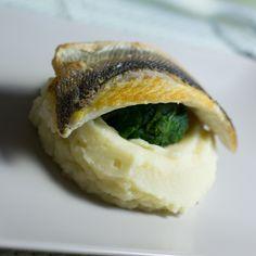 Seabass fillet on parsnip purée: easy 40 min meal
