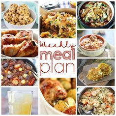 Whew!  We made through another work week didn't we?  Now it's time to have some fun!  If menu planning isn't your idea of fun, don't worry; we have you covered! Enjoy! Weekly Meal Plan Week 13 – 10 great bloggers bringing you a full week of recipes including dinner, sides dishes, drinks and desserts!     One Pot Beef and Vegetable Skillet – Roxana's Home Baking Honey Soy Chicken – Barefeet in the Kitchen   Garlic Butter Shrimp and Rice – Diethood Honey Baked Chicken and Potatoes – Cravings…