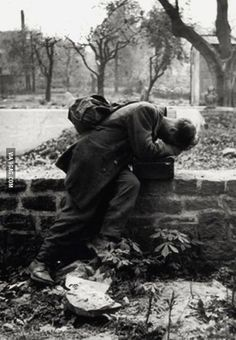 Soldier returns home only to find his family was gone. Frankfurt 1946