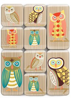 owl magnets from Paper Source