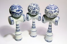 Art Chinoiserie Acrylics On Kendama 4x10