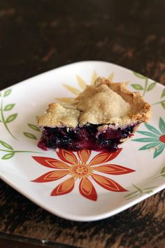 Blueberry rhubarb pie. Looks delicious. The rhubarb would give tartness.