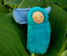Turquoise fairy baby ornament by fairyshadow on Etsy, $6.00